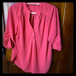 Halogen Sz XS Oversized Coral Pink Blouse